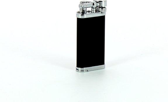 IM Corona Old Boy chrom/schwarz mit integriertem Stopfer