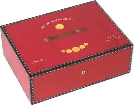 Elie Bleu Red Medal 75-Zigarren-Humidor