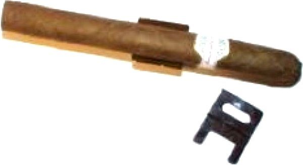 Cigarrenstuhl für 1 Cigarre vergoldet