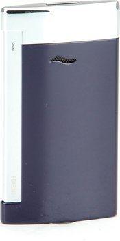 S.T. Dupont Slim 7 Jet Feuerzeug blau / chrom