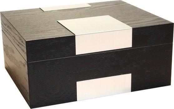 Humidor Echtholzfunier schwarz matt