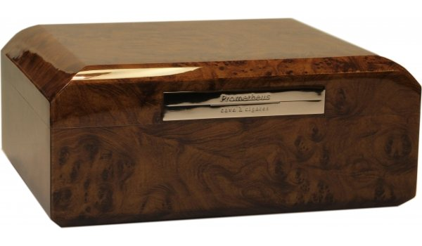 Prometheus Humidor Walnuss Oktagon für 50 Zigarren
