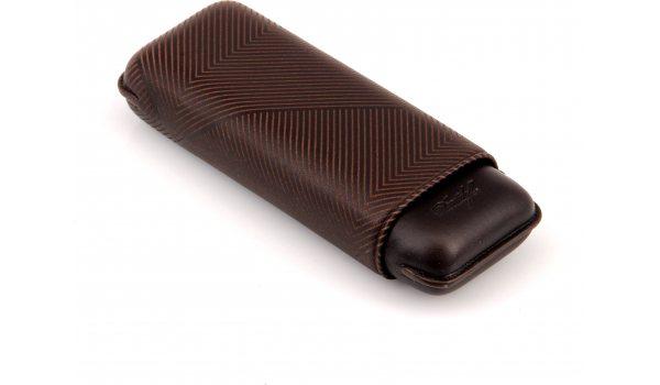 Davidoff Zigarrenetui XL-2 Leder braun 'Blatt'