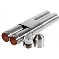 Adorini 2er Zigarrenetui Stahl Satin Zeder