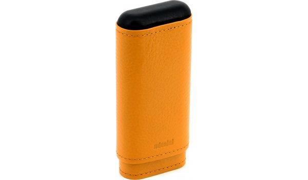 adorini Zigarrenetui Echt Leder 2-3 Zigarren Krokus orange
