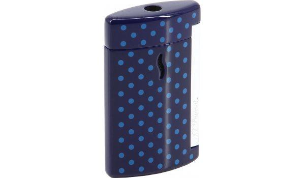 S.T. Dupont Minijet Feuerzeug Purpur mit blauen Punkten