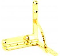 Quadrantscharnier vergoldet groß 60 x 56 mm