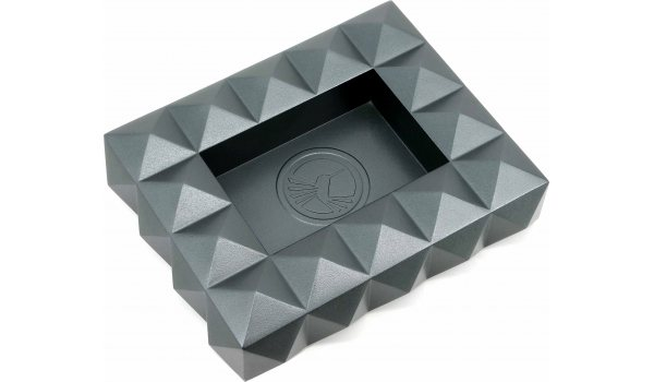 Colibri Quasar Zigarrenaschenbecher Metall Grau