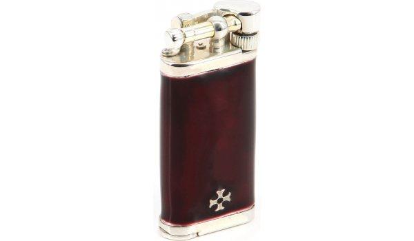 IM Corona Sillem Old Boy Feuerzeug Rot Dunkel Sterling