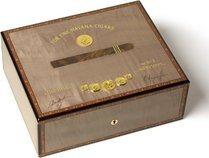 Elie Bleu 75-Zigarren-Humidor in grau Medaille