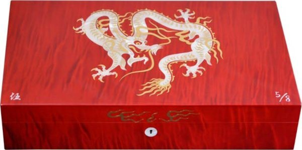 Elie Bleu Mother-of-Pearl Dragon begrenzte Auflage roter Humidor