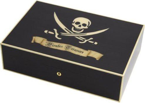 Elie Bleu Pirate's Treasure schwarzer 110-Zigarren-Humidor aus Ahorn