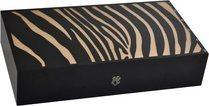 Elie Bleu Safari 110-Zigarren-Einlegehumidor in Natur und Zebraoptik