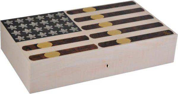 Elie Bleu Stars & Stripes begrenzte Auflage 110-Zigarren-Humidor