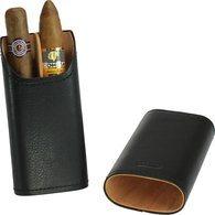 Adorini Zigarrenetui Echt Leder 2-3 Zigarren schwarz