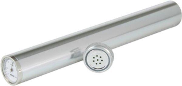 Adorini Humidor Zigarrenröhre inkl. Hygrometer in Silber