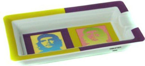 Elie Bleu Che Pop Art Porzellanaschenbecher grün / lila