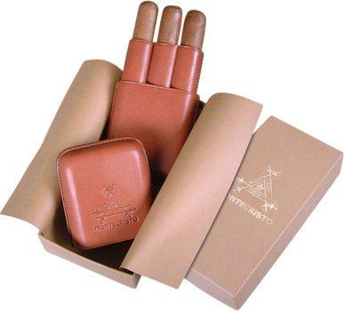Zigarrenetui Montecristo Leder für 3 Zigarren